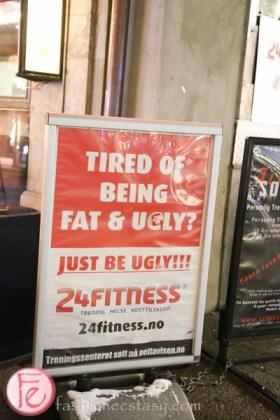 fitness sign oslo Karl Johans gate