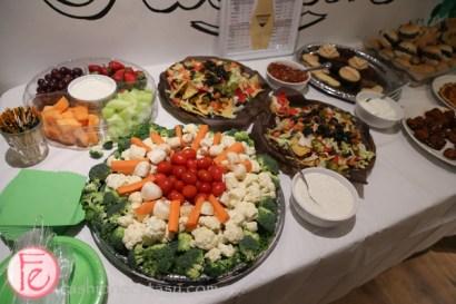 food station with veggie platter