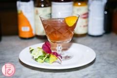 peter pan bistro cocktail with orange peel