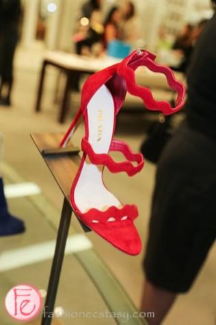 prada 2015 red sandal heals