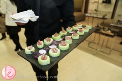 tuna tartar in a cucumber boat by holts cafe