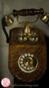 dala decor antique rotary dial phone