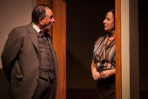"L-R, Paul Finocchiaro, Jeri Lynn Cohen in ""The Office"" by Alice Munro"