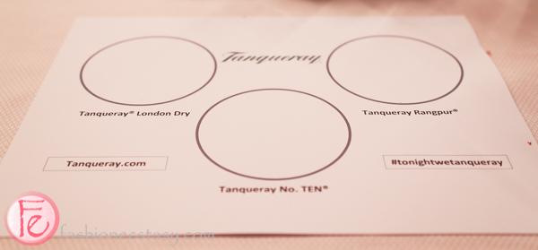 tanqueray gin tasting