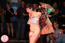 jess dobkin with bills taped on her body