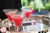pink cocktail served at moonlight gala