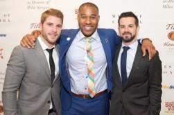 All-Star Gala Co-Chair Cam Healy, TSN's Cabbie Richards and All-Star Gala Co-Chair James Blackburn
