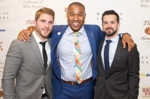 All-Star Gala Co-Chair Cam Healy, TSN's Cabbie Richards and All-Star Gala Co-Chair James Blackburn