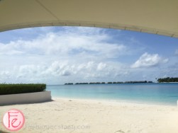 Conrad Maldives beach view from quiet zone