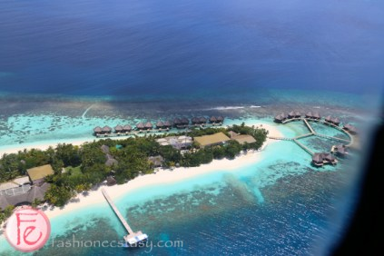 bird's eye view of conrad maldives
