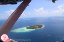 bird's eye view of maldives