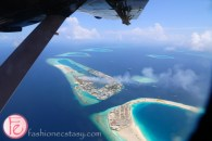 bird's eye view from trans maldivian seaplane
