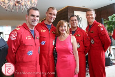 canadian snowbirds at birks x breitling chronomat 44 jet team watch launch party at shangrila