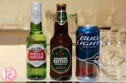 stella artois alexander keith and budlight beer