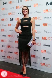 olympian Tessa Virtue on tiff red carpet