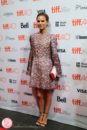 Natalie Portman in Christian Dior Embellished Dress