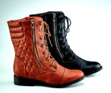 Quilted Moto Boots