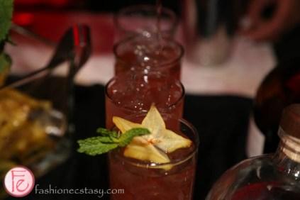 cocktail with starfruit garnish