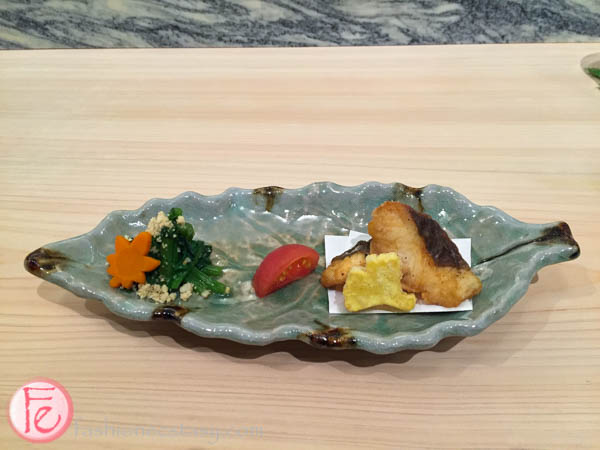 fried hirame flounder shoushin sushi bar