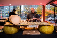 cheese station at canadian opera company coc centre stage ensemble studio competition gala
