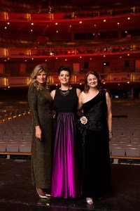 Christie Darville, Emily D'Angelo and Colleen Sexsmith canadian opera company coc centre stage gala