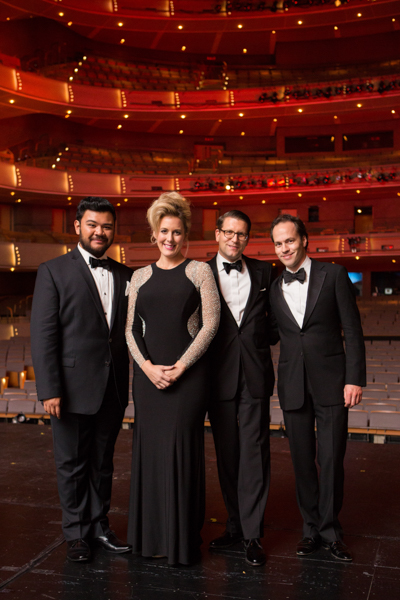 Centre Stage co-hosts Charles Sy and Karine Boucher with Canadian Opera Company General Director Alexander Neef and Music Director Johannes Debus