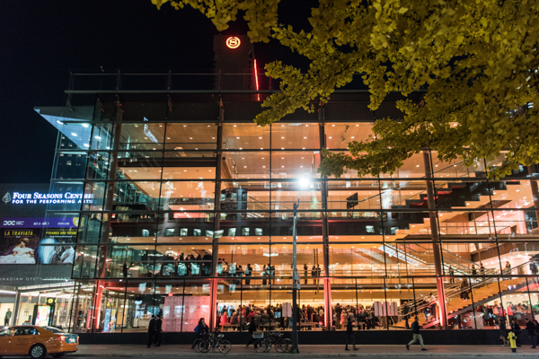 Exterior of Four Seasons Centre for the Performing Arts