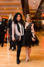 Stylist Loretta Chin and Relationship columnist Jen Kirsch at canadian opera company coc centre stage gala