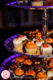 pumpkin cupcakes at hush hush halloween party