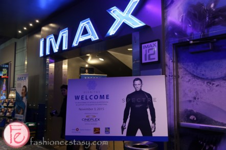 james bond film SPECTRE 007 imax advance screening