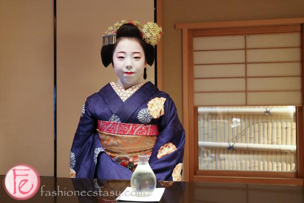 maiko Ichitaka at Bunraku in Kamishichiken kyoto