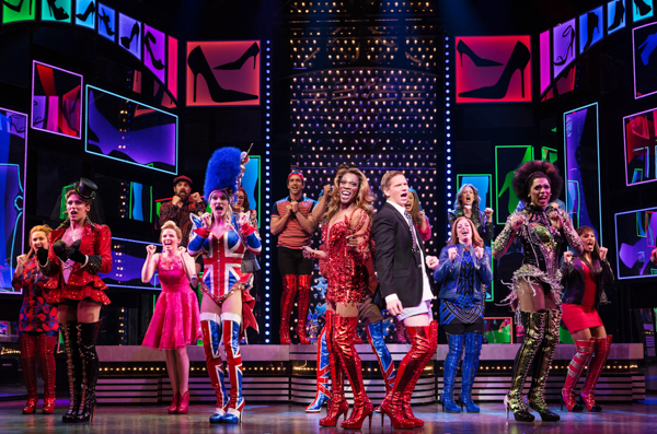 Alan Mingo Jr (Lola) and Graham Scott Fleming (Charlie) Kinky Boots, Toronto, Mirvish Productions
