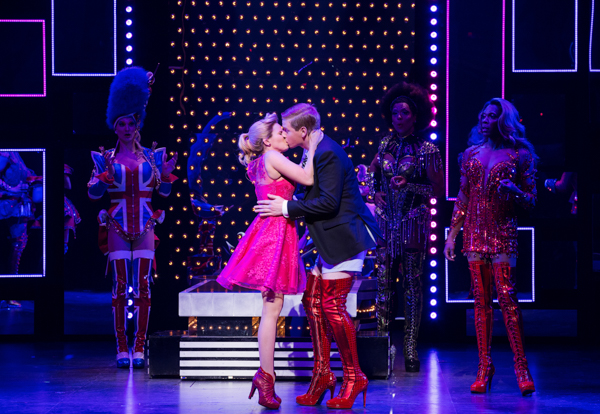 Kinky Boots lauren kissing charlie