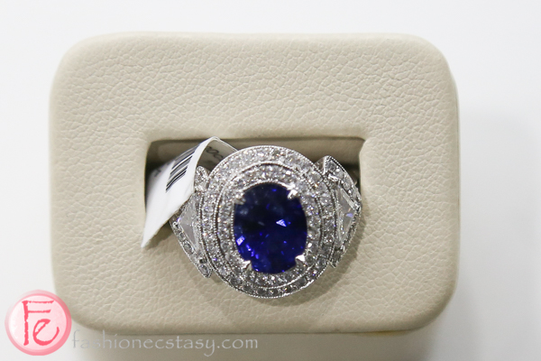 blue sapphire diamond ring samuel kleinberg jewellers 2016 bridal jewellery collection