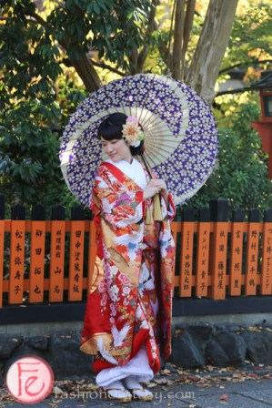 Wedding photoshoot in Shirakawa kyoto