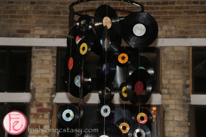 old records at media profile party 2015