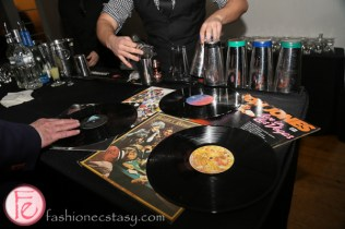 old records at media profile party
