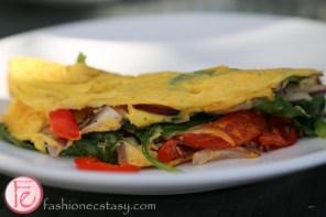 veggie omelet at 15th & Vine Kitchen & Bar, Viceroy Miami