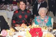 Canadian Prime Minister Justin Trudeau and former Mississauga mayor Hazel McCallion