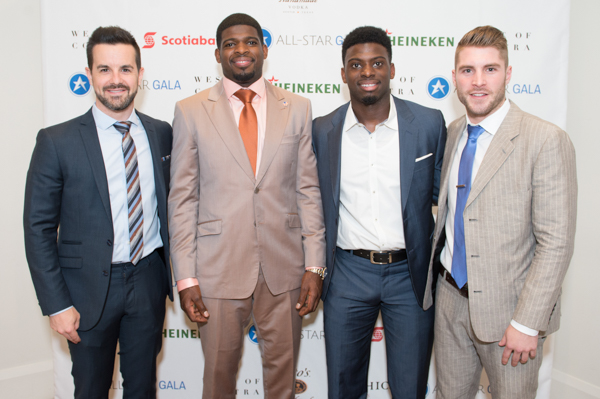all star gala 2016 James Blackburn, PK Subban, Jordan Subban, Cam Healy