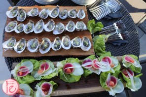 oysters and lettuce