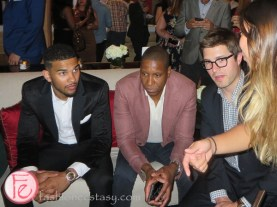 Cory Joseph, Masai Ujiri and Kyle Dubas
