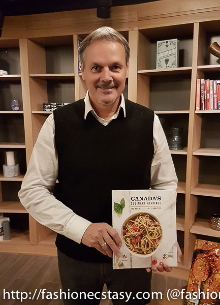 Canada's Culinary Heritage Cookbook publisher Sylvain Perron