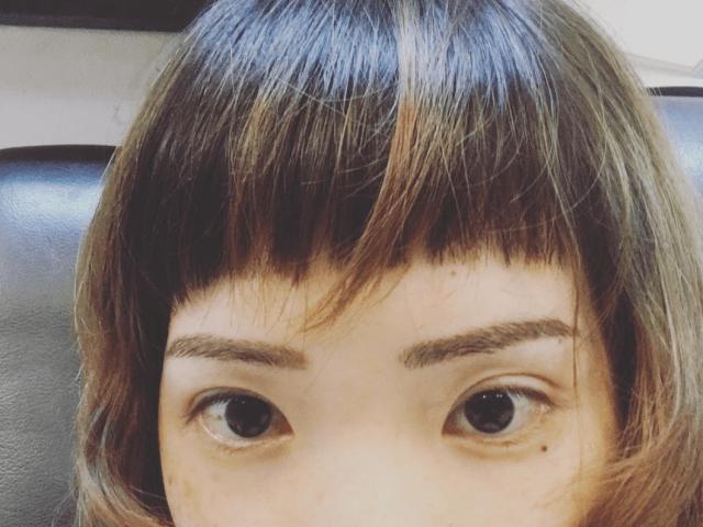 Twiggy Lash Studio Taipei microblading eyebrows experience 3rd session