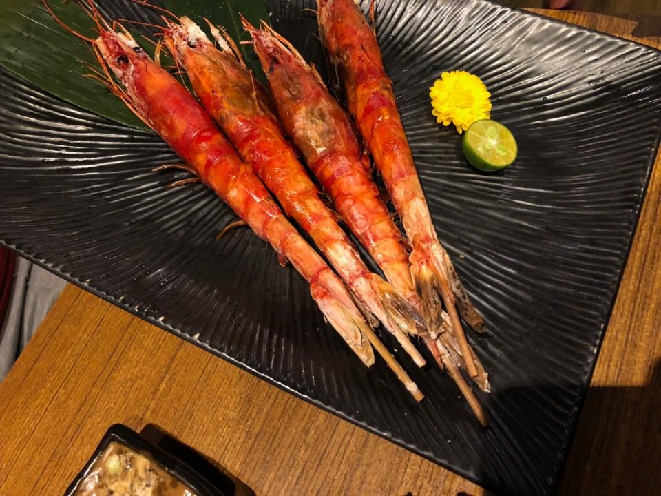 景美石川日本料理烤蝦