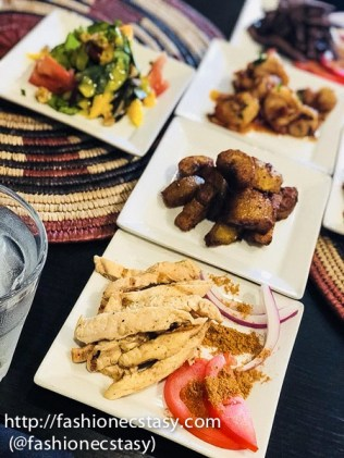 food at Kiza Toronto African Restaurant