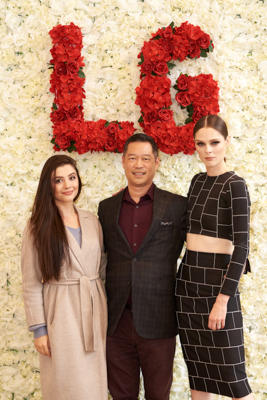 Dave Oyagi coco rocha LG Ultimate Laundry Room with Super Model Coco Rocha