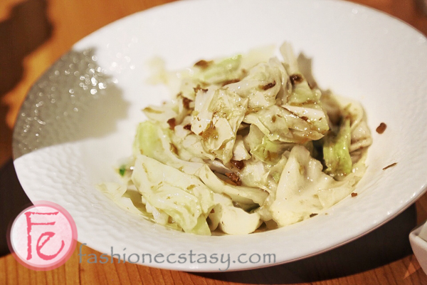 密製蝦醬高麗菜叁和院特色台灣料理