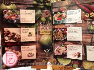 泰集信義微風菜單:海鮮 (Thai Bazaar Menu: Seafood)