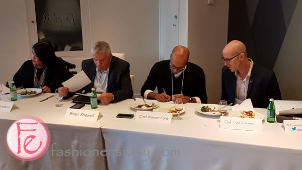 Marlene Benedicto, Brian Shewell,Chef Warren Ford, Chef Eyal Liebman